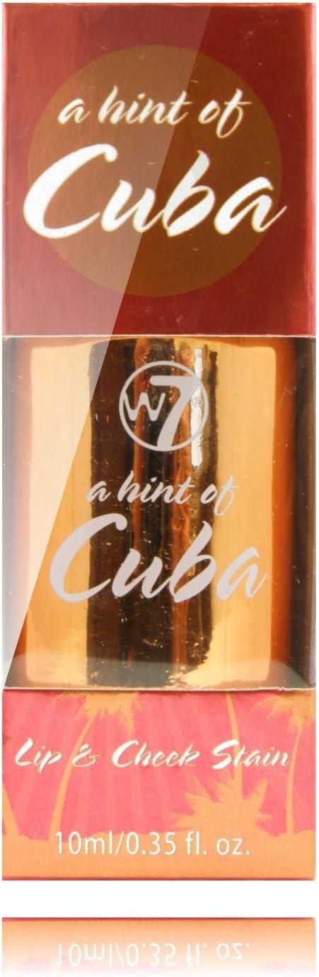 W7 Cosméticos Labios y Mejillas manchas, un toque de Cuba