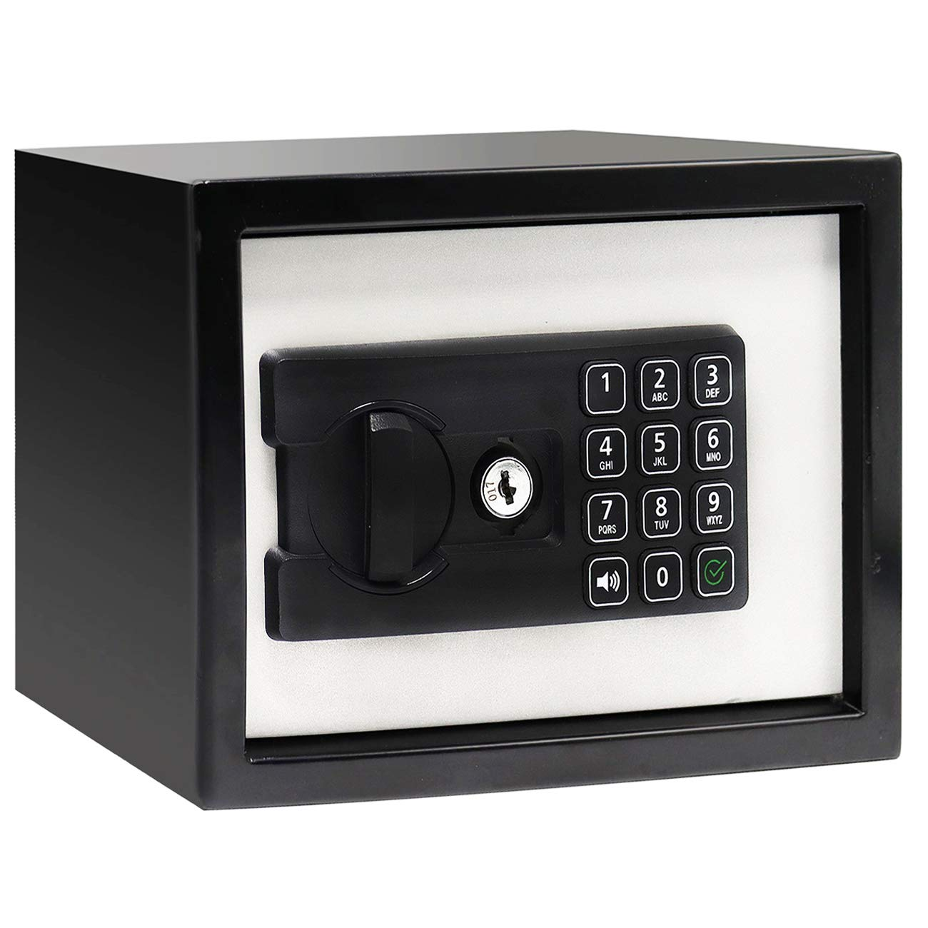 Jolitac Digital Security Cabinet Safe Box Solid Steel, Small Electronic Depository Safe w/Deadbolt Lock Wall-Anchoring Home Office use for Deposit Money Gun Jewelry Cash 9''x7''x7'' (0.26 Cubic Feet)
