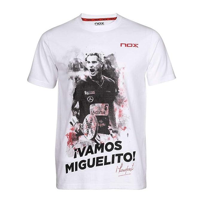 NOX Camiseta Vamos MIGUELITO Blanco: Amazon.es: Deportes y aire libre