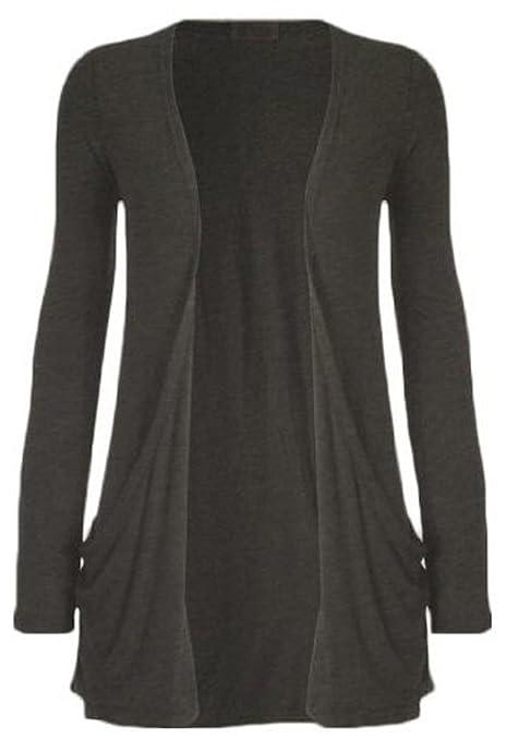 Fashion Womens Boyfriend Pocket Cardigan Shrug Sweater by Fashion