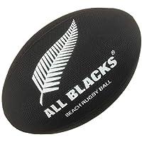 Nueva Zelanda playa pelota de rugby, color negro