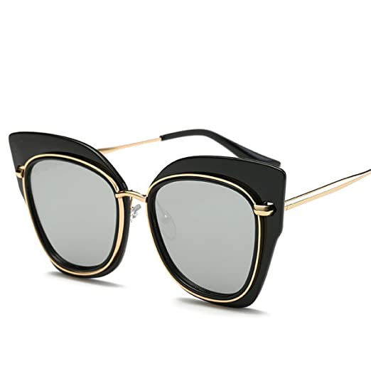 Persönlichkeit Katze Auge Sonnenbrille Metall Katze Ohren Sonnenbrille Trend Bunte Sonnenbrille,A2