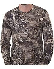 Mens Realtree CAMO Polyester Performance Long Sleeve T-Shirt