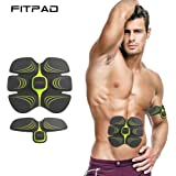 FITPAD Electric Muscle Stimulator, Body Fitness & Muscle Trainer Without Sport, Muscle Toner Exercise Equipment for Arm/ Thigh/ Abdomen