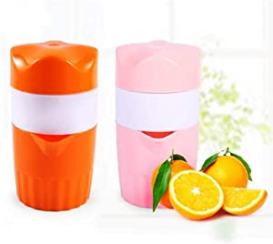 300ML Manual Orange Juicer Orange Juice maker Lemon Citrus Squeezer Orange juicer press Manuel Juice Extractor Portable Kitchen Fruit Tool Halloween Christmas Black Friday Gifts (Orange)