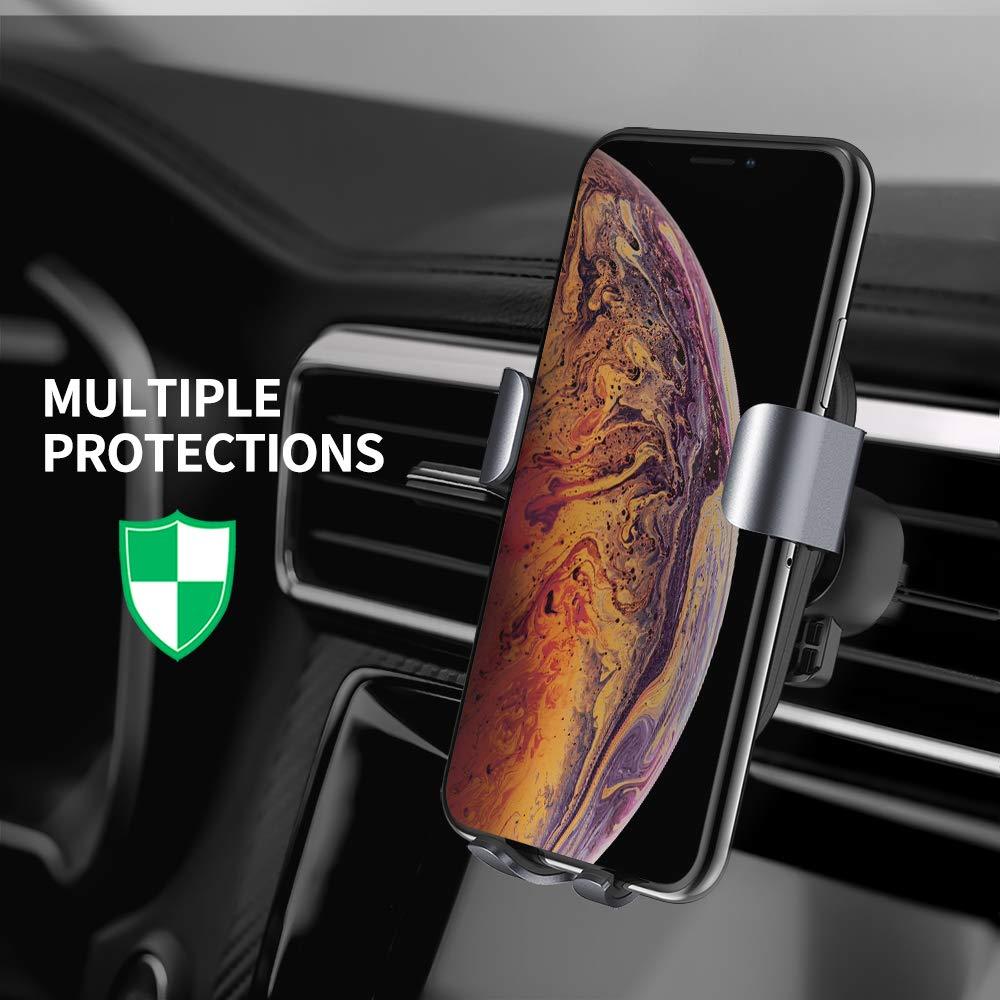 Galaxy S9//S8////S7//S6 Edge+. Note 5 Caricatore Wireless Auto,Steanum Ricarica Rapida Wireless Auto Vento Supporto Telefono Compatibili per iPhone Xs Max//Xs//Xr//X//8//8Plus