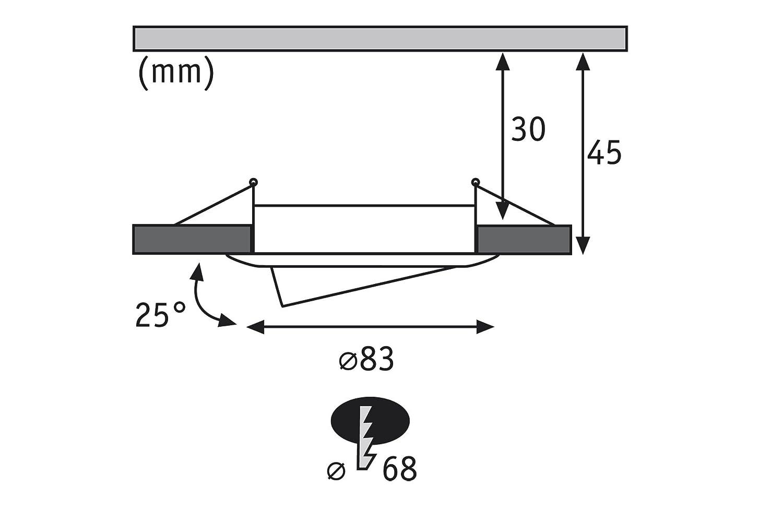 Paulmann 927.78 Premium EBL Set Coin satiniert rund schwenkbar schwenkbar schwenkbar LED 3x6,8W 2700K 230V 51mm Eisen gebürstet 92778 LED Spot Einbaustrahler Einbauleuchte 1e2be6