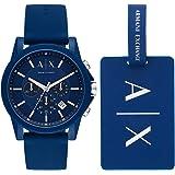 Armani Exchange Men's AX7107 Chronograph Quartz Blue Watch