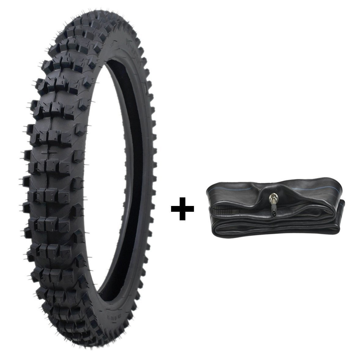 ZXTDR 70/100-17 Tire and Tube Set 2.25-2.50x17 Tires and Inner Tubes for Motorcycle