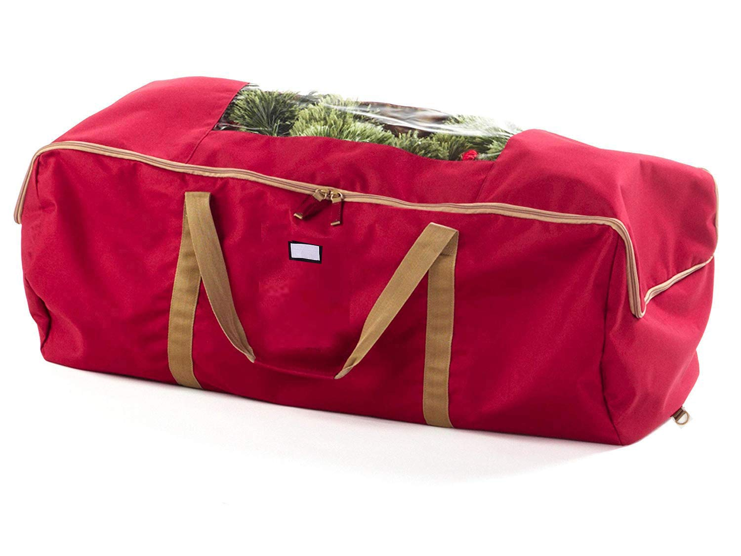 iiSPORT Christmas Tree Storage Bag Extra Large Holiday Storage Duffel Bag, Fits 9 to 11 Foot Tree Made of 600D Oxford, Red
