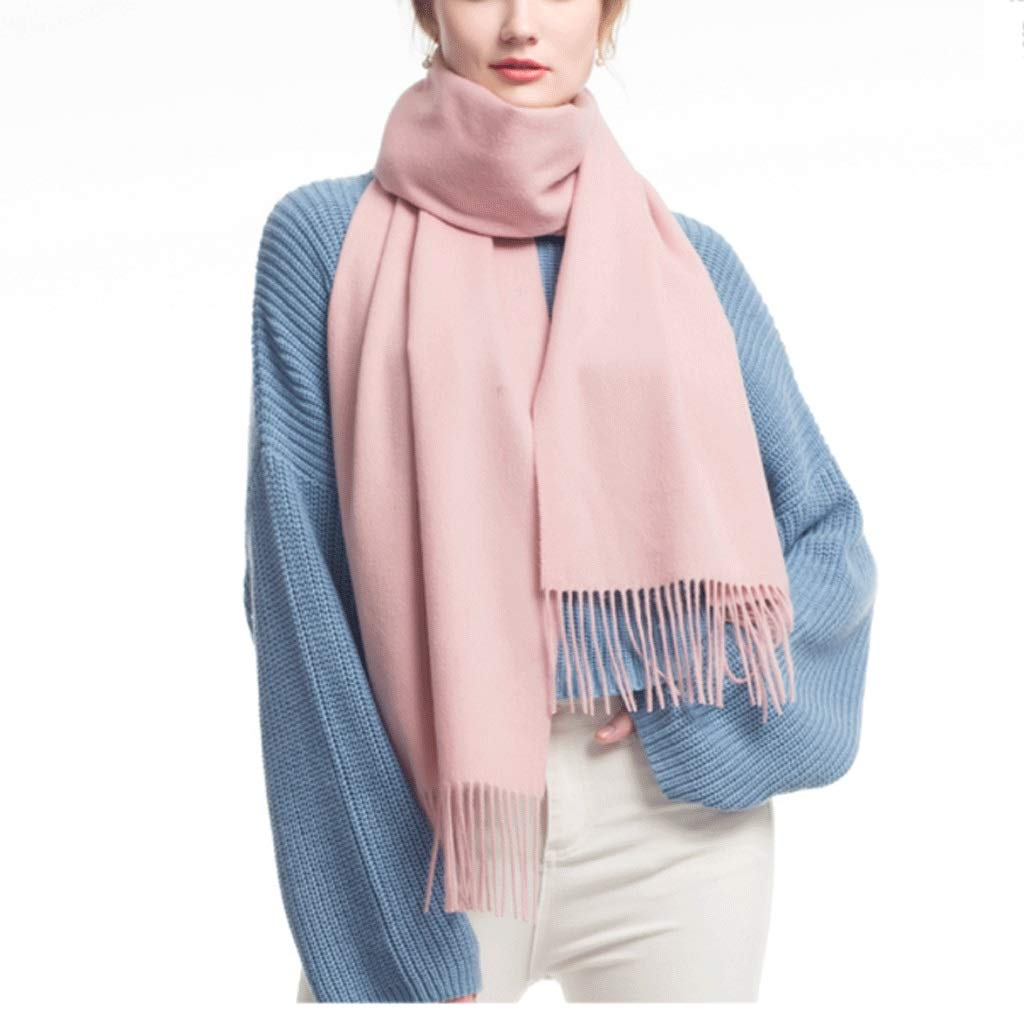 Light pink CCF Scarf Winter Thicken Soft Elegant Classic Scarves Woman Shawl V (color   Turmeric)