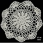 """Creative Linens 6PCS 8"""" Round Crochet Lace Doily Beige 100% Cotton Handmade, Set of 6 Pieces 5 Beige Crochet Lace Doily Set, handmade 8"""" round each piece, Set of 6 pieces Matching crocheted sunflower daisy placemats, table runners, dresser scarf, napkins, tablecloths, kitchen curtains and doilies in different sizes available"""