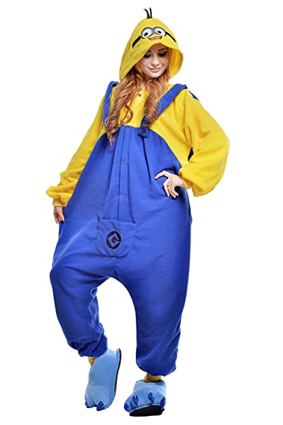 Engerla Smile Minion Kigurumi Pijamas Cosplay Adulto Halloween Animal Onesie