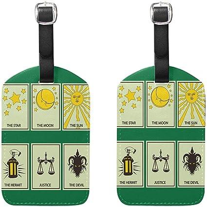 Conjunto de Etiquetas de Equipaje de la Tarjeta del Tarot ...