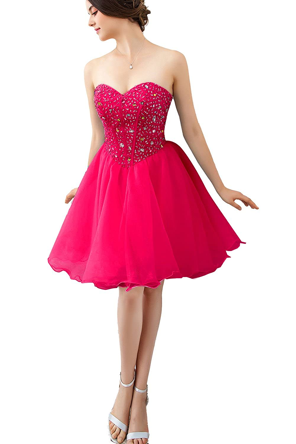 Fuchsia FASHION DRESS 2017 Women's Short Evening Prom Party Cocktail Dress