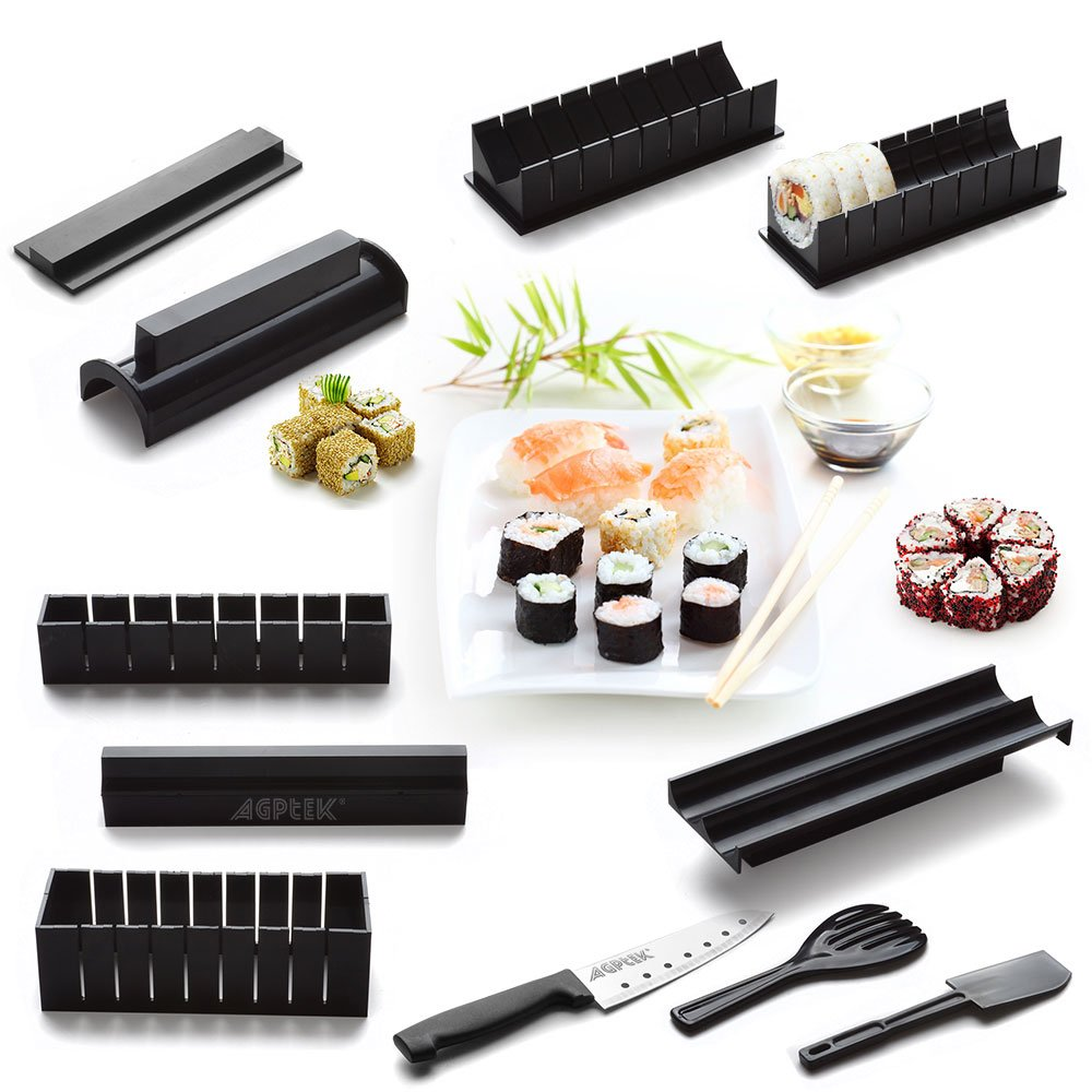 AGPtek Sushi Maker Kit, 10 Stück Komplett Sushi Making Kit DIY ...