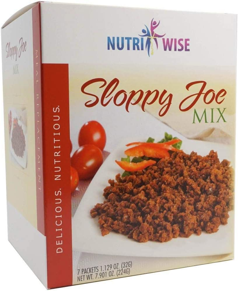 Nutriwise - Sloppy Joe Entree | Healthy Diet Foods | 7/Box | High Protein, Low Calorie, Low Sugar, Cholesterol Free