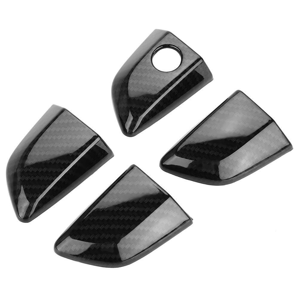 8 piezas ABS puerta exterior manija cubierta para Civic 2016 2018 negro
