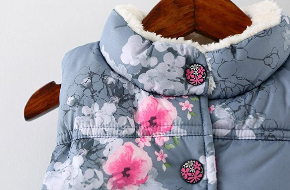 Rosiest Kid Infant Floral Jackets Baby Toddler Warm Waistcoat Clothes Coat