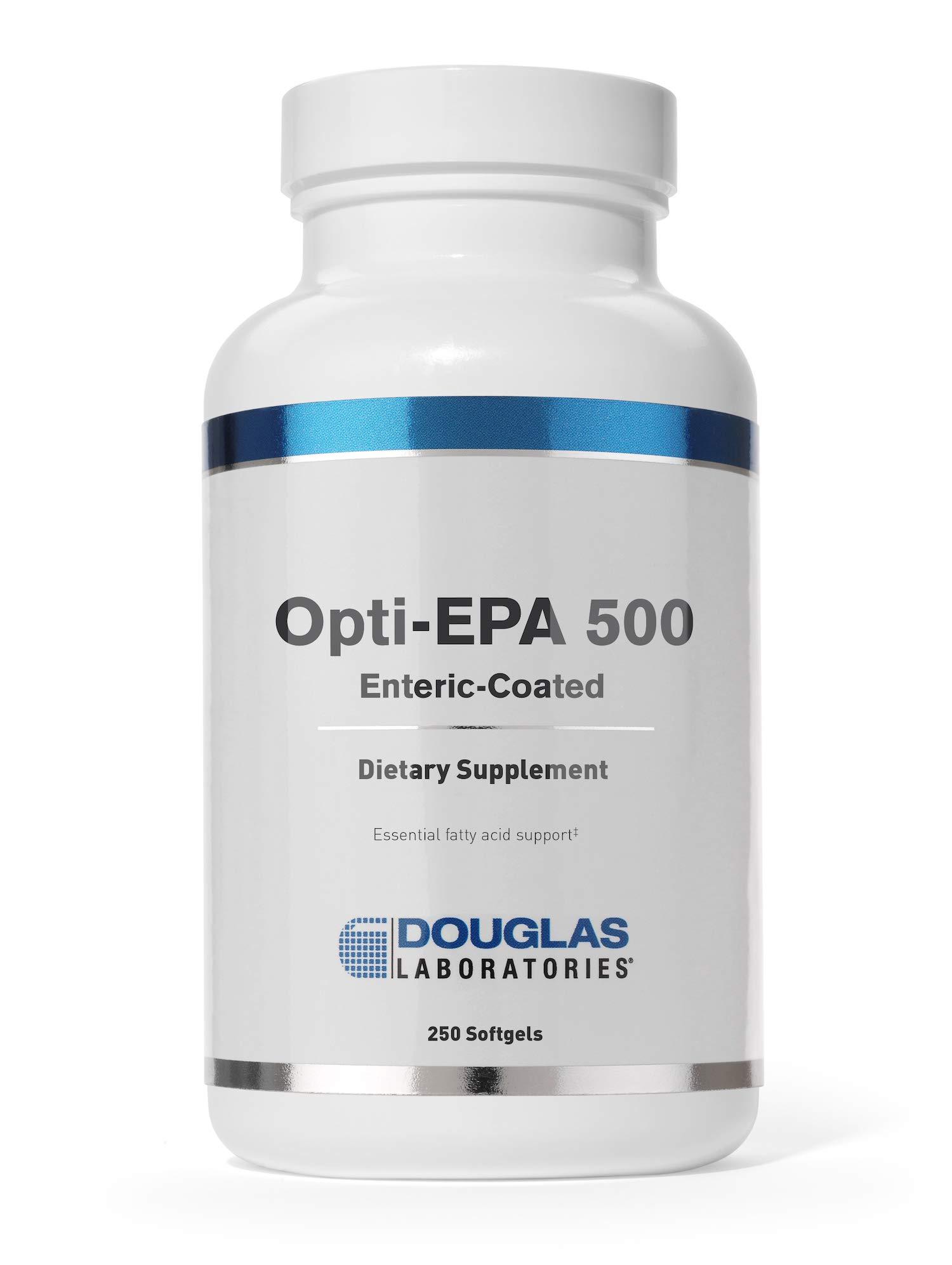 Douglas Laboratories - Opti-EPA 500 (Cholesterol Free) - Supports Brain, Eyes, Pregnancy and Cardiovascular Health* - 250 Softgels by Douglas Laboratories
