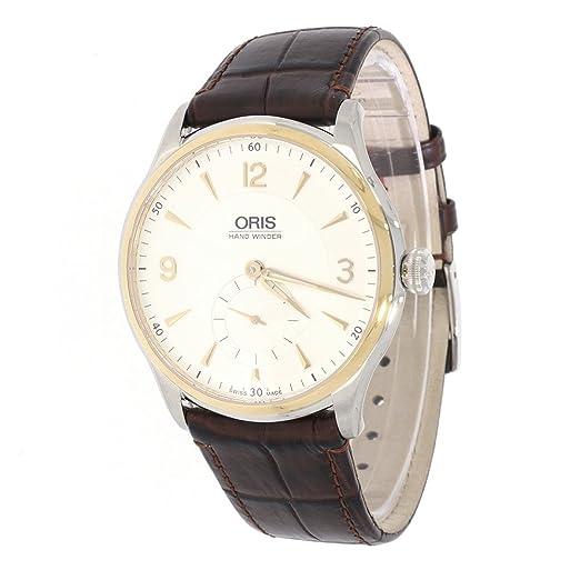 Oris Artelier Reloj de hombre cuerda manual bicolor con pequeño segundo: Amazon.es: Relojes
