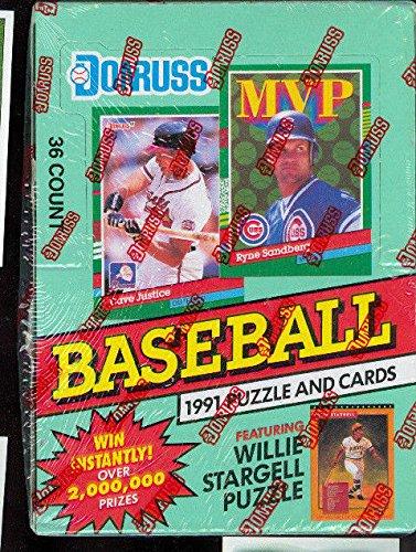 Series Basketball Box 2 Card - 1991 Donruss Baseball Wax Pack Box FACTORY SEALED Series 2 Card Set