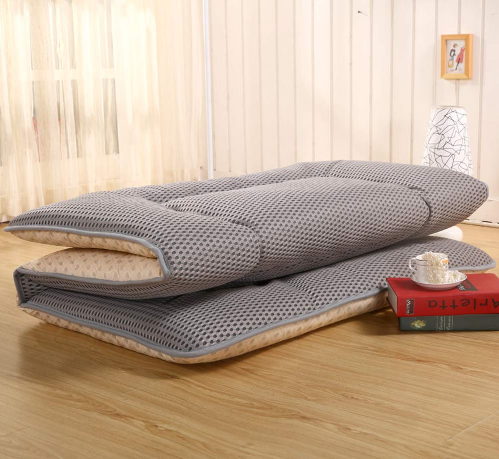 Folding Tatami sur-Matelas Couverture Coussin Rouleau de lit Japonais pour stdudent Dorm Accueil M/éditation-A 90x190cm 35x75inch Respirabilit/é 4 d Mesh Dormir Futon Topper Matelas