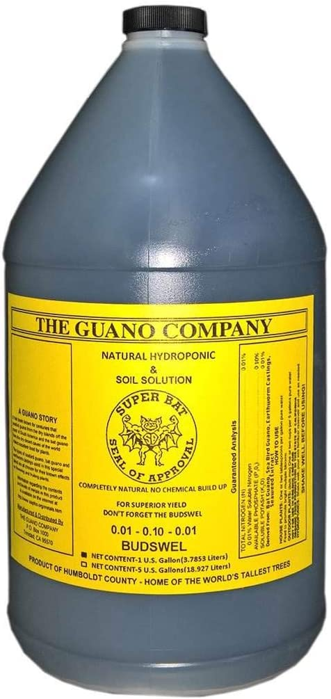 The Guano Company Budswel Liquid 1 Gallon Organic Hydroponic & Soil Solution
