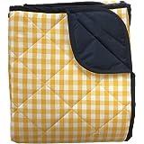 Blue Gingham Padded Picnic Blanket