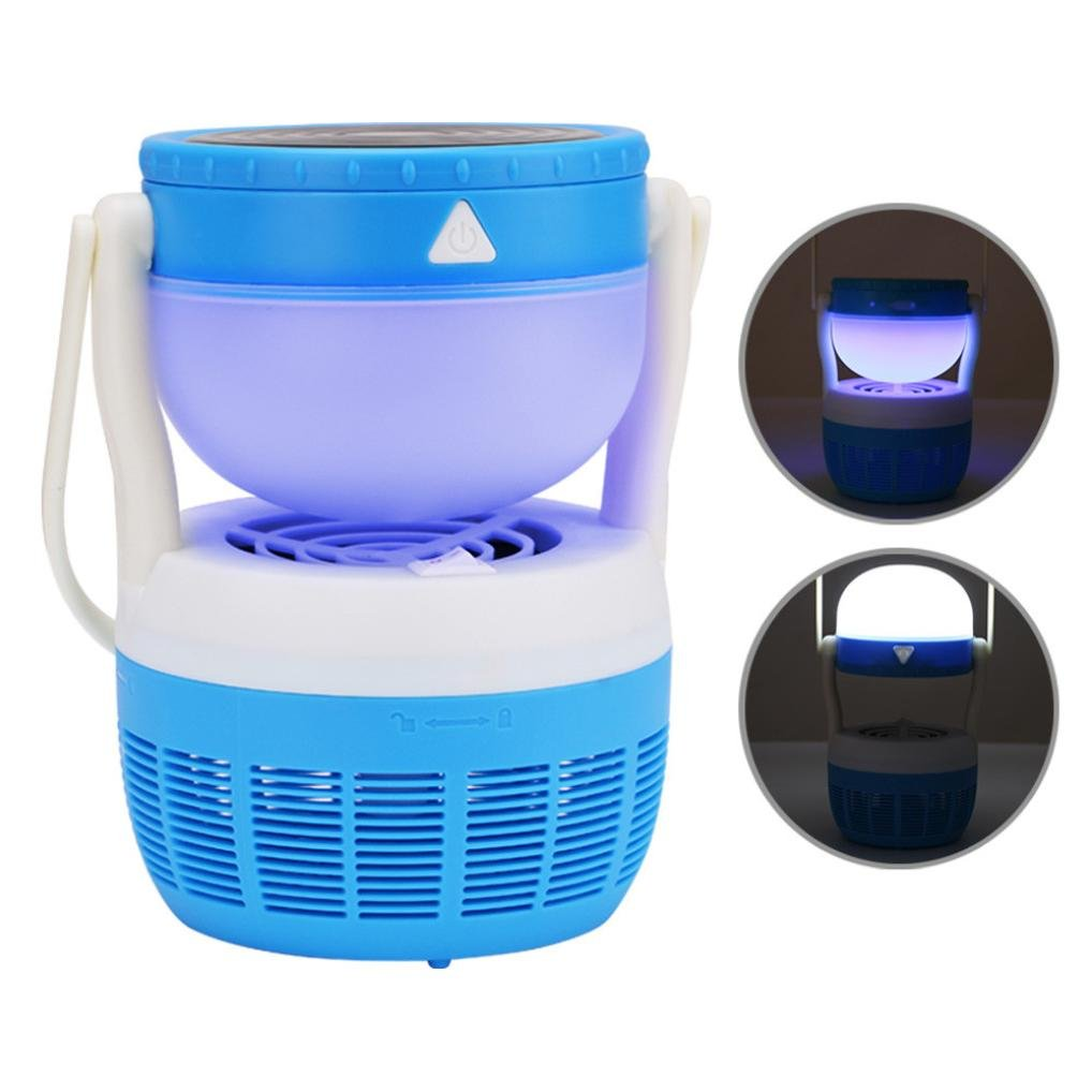 Leedford Hot Sale Mosquito Repeller, Electric Fly Bug Zapper Mosquito Insect Killer LED Light Trap Lamp Pest Control (Blue)