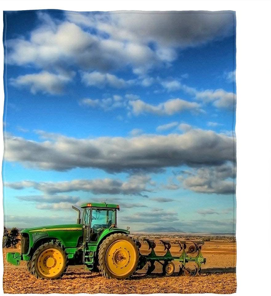 Throw Blanket Farm Tractor