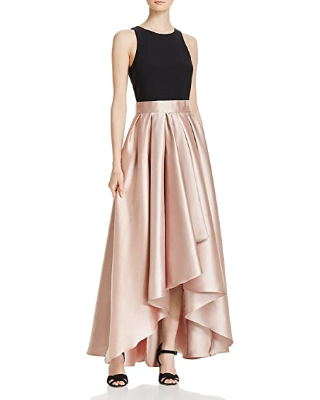 Xscape Womens Aqua Highlow Ball Gown Blacktaupe Size 10 At Amazon
