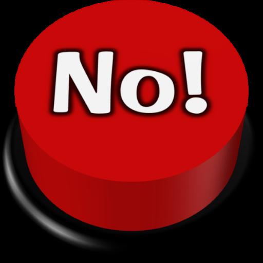 No Button - Humorous Button