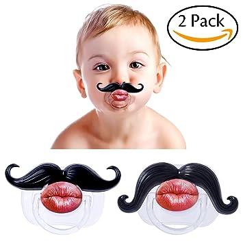 Amazon.com: Bigote Chupete para el bebé divertido Caballero ...