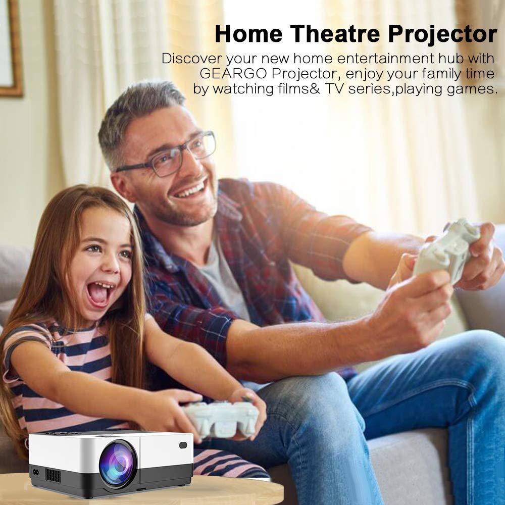 Mini Proyector, Proyector Portátil GEARGO Video Proyector 1080P ...