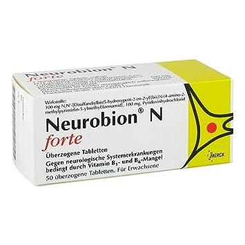 Neurobion N Forte bañado en tabletas 50 unidades: Amazon.es: Salud y cuidado personal
