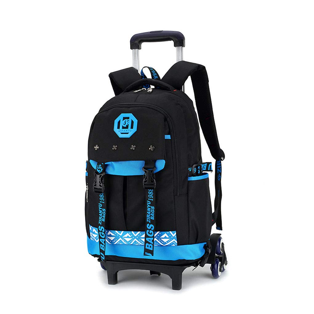 27db2683d0a1 Amazon.com : JQXB Rolling School Backpack, Kids School Bags with 6 ...