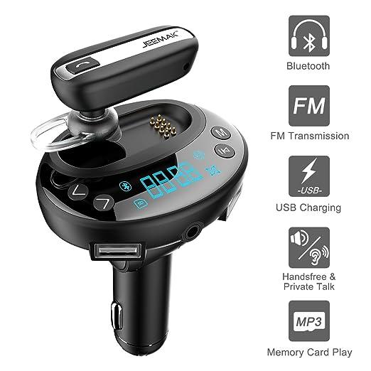 19 opinioni per Jeemak Auto radio Trasmettitore FM Adattatore con Auricolare Bluetooth,
