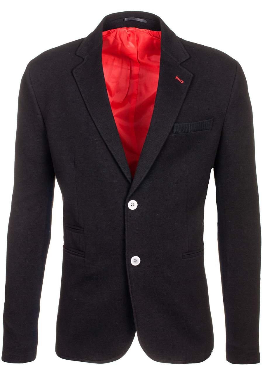 BOLF Giacca d'abito – Blazer – Monopetto – A bottoni – Risvolti aperti – Con spacco – Silm fit – Elegante – Da uomo 4D4 JEEL 405