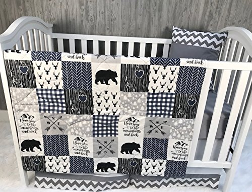 n, Baby Bedding, Woodlands, Bear, Buck, Neutral, Crib Bedding, Nursery Room, Babylooms ()