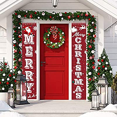 Amazon Com Kingrex Merry Christmas Banner Christmas Decorations