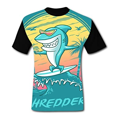 823cec6f2 Image Unavailable. Image not available for. Color: Shredder Shark Men's T- Shirt Short Sleeve Fun Tee Shirt Sports Tshirt for Men S