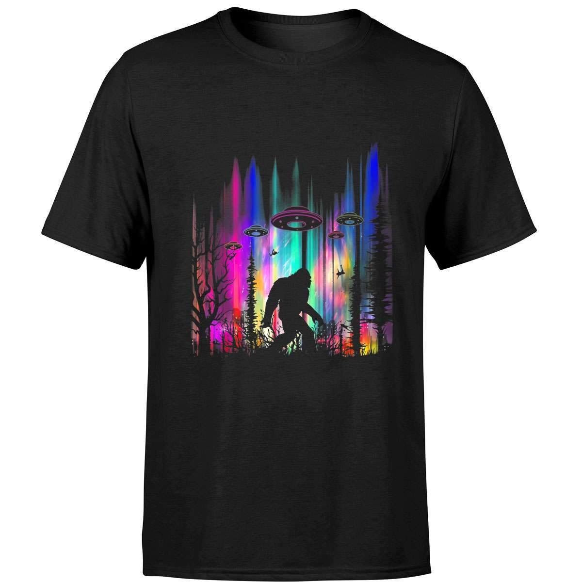 Ufo Abduction Northern Lights T-shirt For Believers