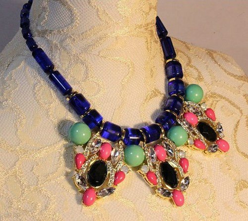 sale-beautiful-crystal-mixed-mosaic-gemstone-necklacebubble-necklaceholiday-party-bridesmaid-summer-