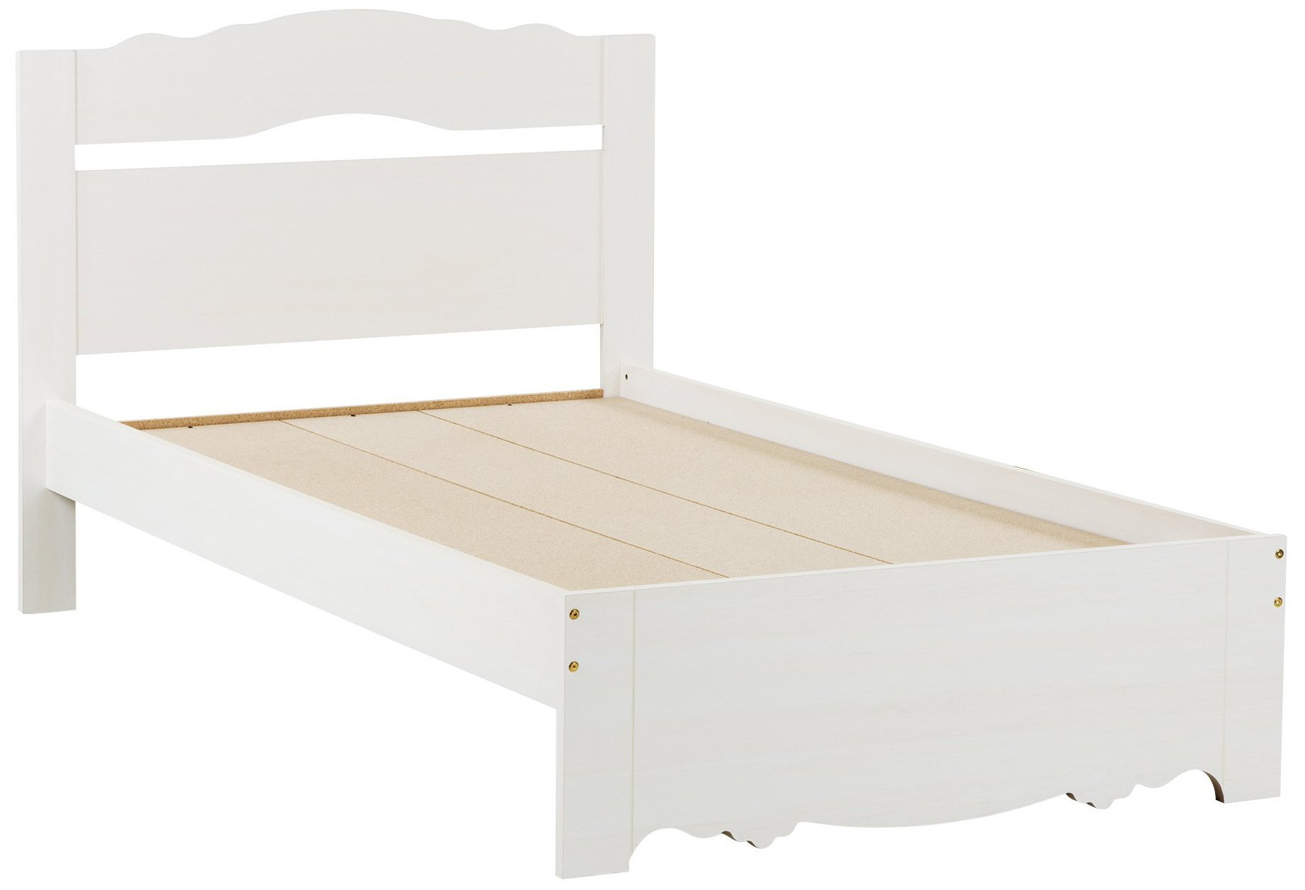 South Shore Lily Rose Bed & Headboard Set, Twin 3-inch, White Wash by South Shore
