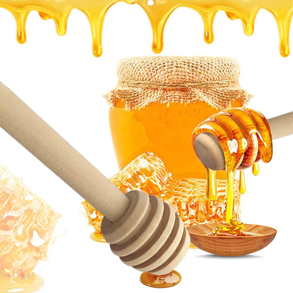 Mini Office Depot 2019 Lot de 2 cuill/ères /à miel en bois de h/être naturel H01