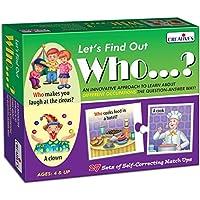 Creative Educational Aids P. Ltd. Let's Find Out Who Puzzle (Multi-Color, 54 Pieces)