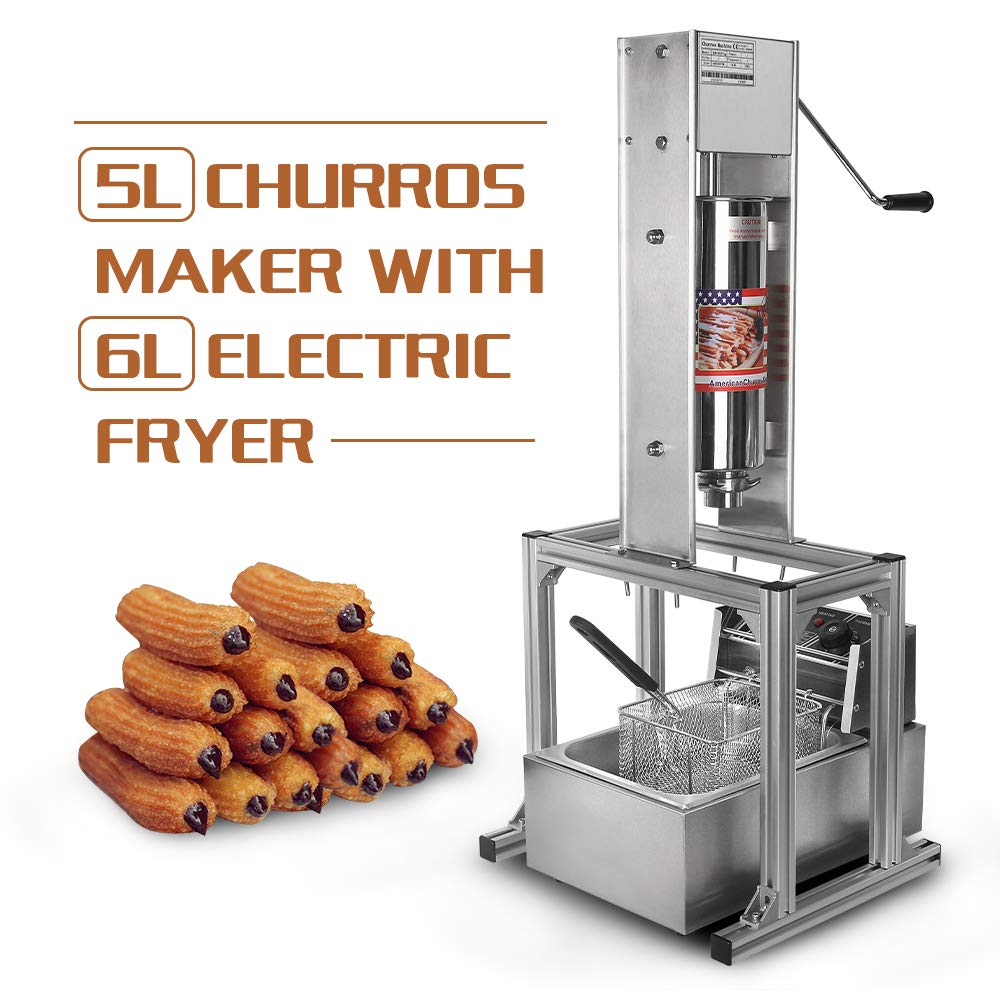 Churrera Churros - Máquina de cocción vertical (2 unidades, 5 L ...