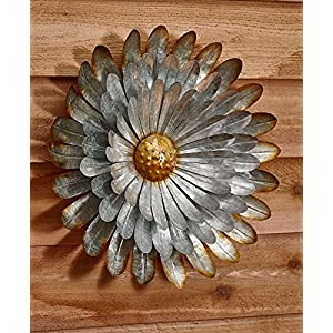 Galvanized Metal Wall Flower, Aster Extra Large 61