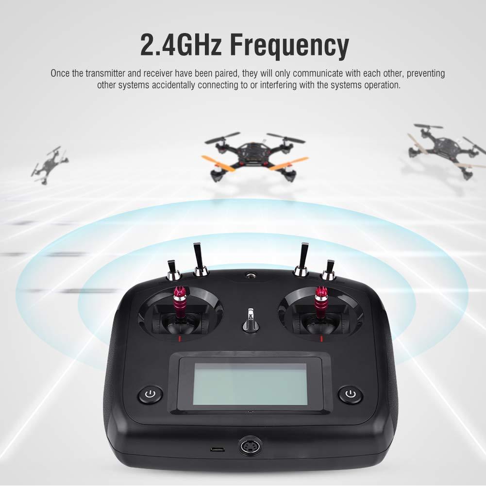 Finmind Sender Sender Sender 10CH FS-I6S Sender, 2,4G 10CH FS-I6S Sender & FS-IA6B oder FS-IA10B Empfänger für RC Drone Quadcopter RC-Zubehör (Schwarz FS-I6S & FS-IA10B) (Schwarz Fs-I6s & Fs-ia10b) 1be414